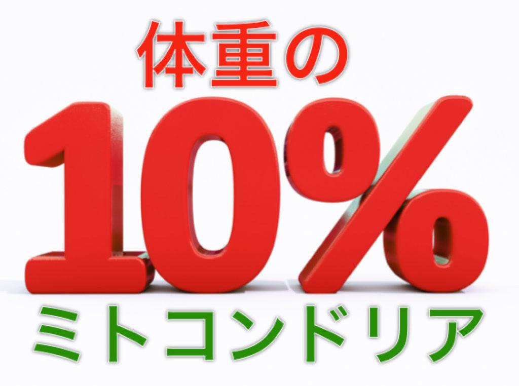 ミトコンドリア 10%